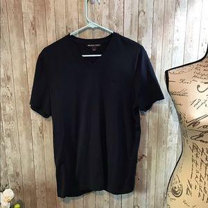 Men's Michael Kors V Neck Navy T-shirt Size Small